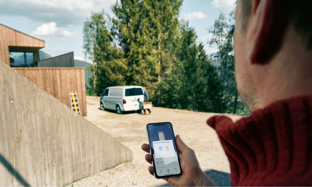 vw-transporter-öffnen-we-connect-car-net-handy